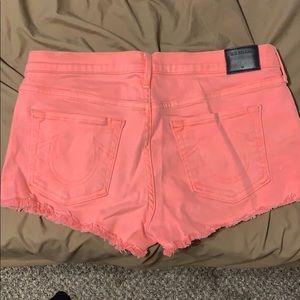 True Religion Coral Jean Shorts